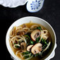 30-Minute Rice Noodle Soup with Mushrooms & Kale