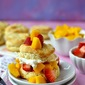 Shortcakes with Strawberry & Mango