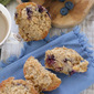 Spiced Blueberry Peach Streusel Muffins + #VegFlavorBible Giveaway!