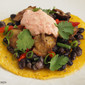 Orca Beans Tostada Recipe with Roasted Red Pepper Yogurt
