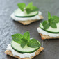 Cucumber Cream Cheese and Mint Triscuit Crackers