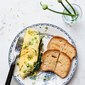 NETTLE OMELET WITH SPRING ONION