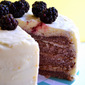 Blackberry Cake with Lemon Buttercream