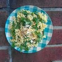 Nutty Beans and Greens Pasta Salad