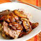 Bacon & Blue Cheese Meatloaf with Mushroom Gravy