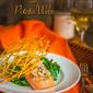 Shallot Dill Salmon with Potato Webs