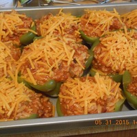 Stuffed Peppers - BBQ Bacon Cheeseburger Style