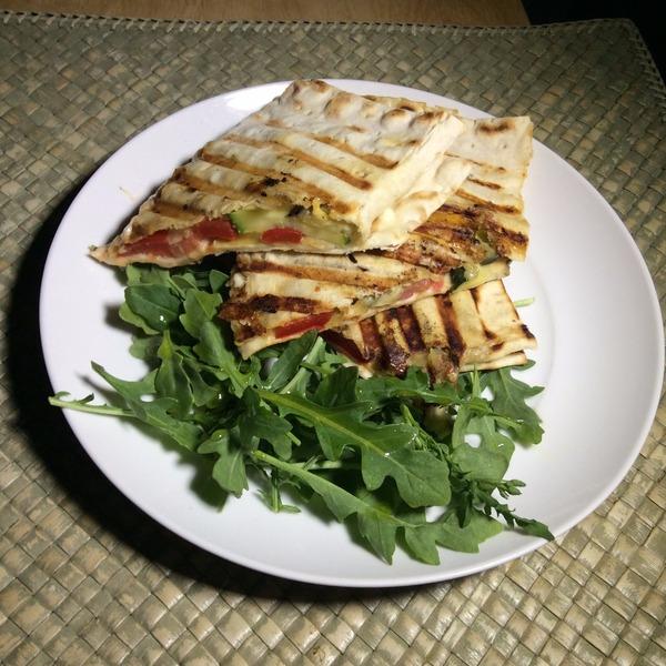 Mediterranean Style Recipes: Mediterranean-style Vegetarian Sandwich Recipe By Rene