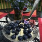 Luscious Lemon Custard with Blueberries