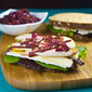 Chicken, Brie & Pear Sandwich with Balsamic Onions