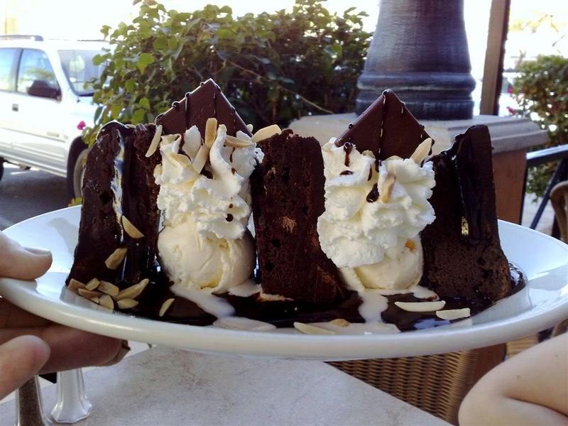 Black and White Chocolate Brownie Sundae
