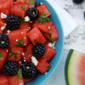 Watermelon & Blackberry Mint Salad