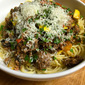 Summer Garden Vegetable Bolognese in a Slow Cooker