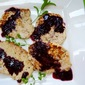 Pork Scaloppini with Blueberry-Red Wine Reduction