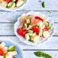 Shrimp, Hearts of Palm, Cucumber & Tomato Salad Recipe