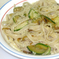 Fettuccine with Zucchini and Onions