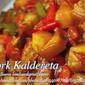 Pork Caldereta (Kalderetang Baboy)
