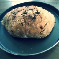 Cranberry-Walnut sour bread