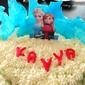 Frozen themed Red velvet cake