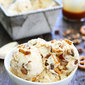 No Churn Salted Caramel Toffee Pretzel Ice Cream