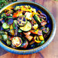 Grilled Vegetable Salad with Chimichurri Sauce