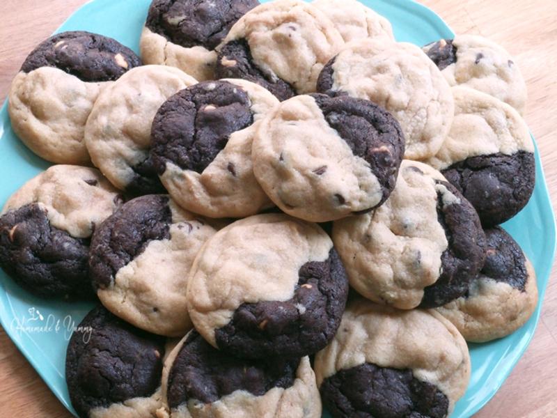 Peanut Butter Reverse Chocolate Cookies