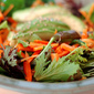 Sesame Ginger Greens with Matchstick Carrots & Avocado