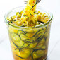 Sweet and Spicy Zucchini Refrigerator Pickles
