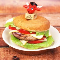 Gluten Free Miso Glazed Hamburgers with Bagel Buns