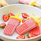 Strawberry Banana Popsicles (Shhh... no sugar added!)