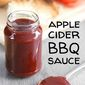Apple cider BBQ sauce