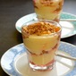 Rhubarb and Custard with Apricot Granola Topping