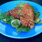 Sesame Chicken Salad with Spinach, Scallions and Cilantro