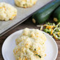 Three Cheese Zucchini Drop Biscuits