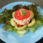 Chili-Lime Crab Salad with Tomato and Avocado