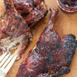 Grilled Duck Half w/ Raspberry Barbecue Sauce
