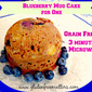 Blueberry Muffin Cake for One in a Mug