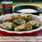 Baked Bean Stuffed Bell Peppers