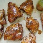 Grilled Chicken Thighs with Hot Carolina Barbecue Sauce