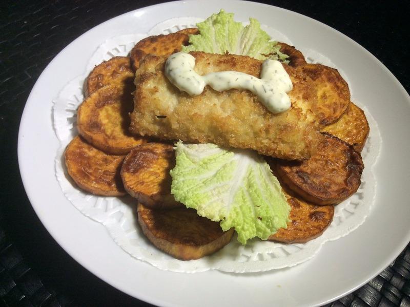Mahi-mahi Fish and (Sweet Potato) Chips