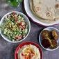 Tabbouleh, Hummus and Pita Platter