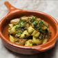 Fast Cooking For Hot Days. Indian Spiced Eggplant With Cilantro.