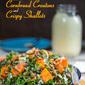 Kale-Sweet Potato Salad with Cornbread Croutons and Crispy Shallots