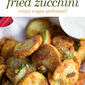 Low Carb Fried Zucchini