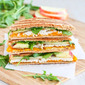 Turkey Panini Recipe with Apple, Cheddar & Arugula
