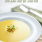 Roasted Winter Squash Soup with Candied Ginger and Coconut Milk