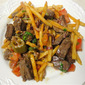 Peruvian Steak and Potato Stir Fry or Lomo Saltado