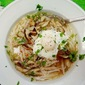 Mushroom-Noodle Soup with Poached Egg