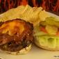 Stuffed Double Cheese Bacon Burgers
