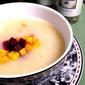 Potato & Leek Soup with Roasted Beets